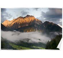 Dawn at Dom Y Planici, Slovenia (viewed 209 times) Poster