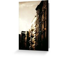 When the Sun Hits - Lower East Side Greeting Card
