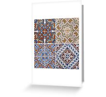 Vintage ceramic tiles Greeting Card