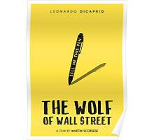 The Wolf Of Wall Street film poster Poster