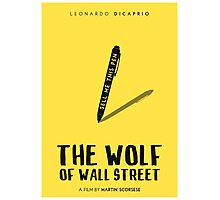 The Wolf Of Wall Street film poster Photographic Print