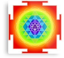 Sri Yantra Chakras Color Metal Print