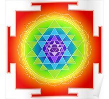 Sri Yantra Chakras Color Poster