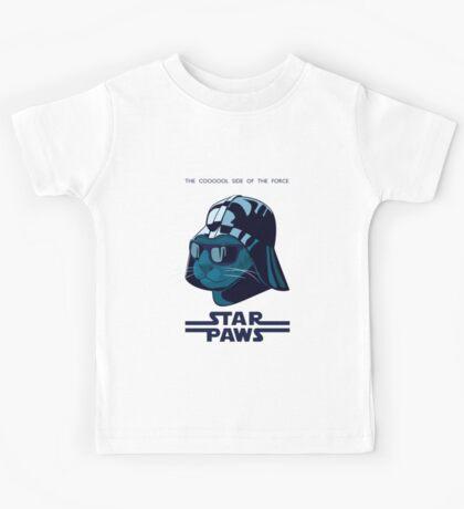 Darth Kitty - Imperial blue Kids Tee