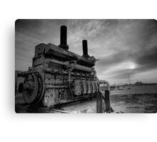 An irrigation engine in black n white for atomsphere Canvas Print