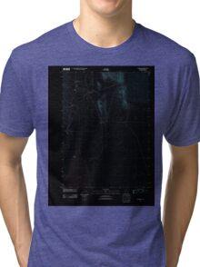 USGS Topo Map Oregon Andrews 20110818 TM Inverted Tri-blend T-Shirt