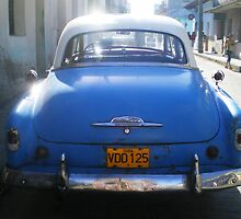 Classic Car on Cuban street by Dita Rosted