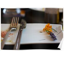 flowers in the plate Poster