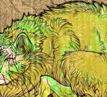 green catbeast Sticker