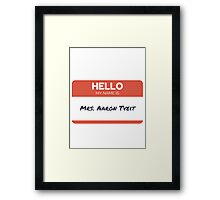 mrs aaron tveit Framed Print