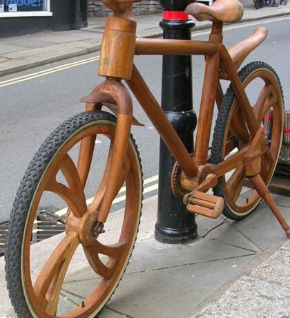 Wooden Bicycle Sticker