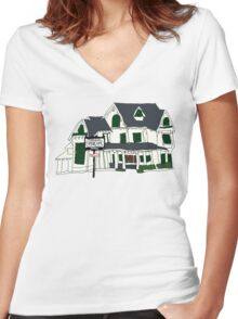 Fisher & Sons Funeral Home  Women's Fitted V-Neck T-Shirt