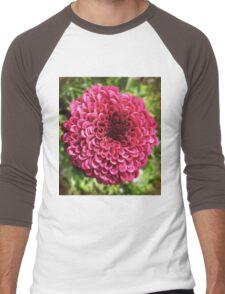 Rosy Pink Men's Baseball ¾ T-Shirt