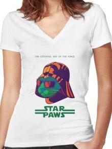 Darth Kitty - Disco Women's Fitted V-Neck T-Shirt
