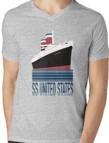 The SS United States - Bon Voyage Mens V-Neck T-Shirt
