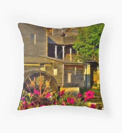 The Old Mill (HDR) Throw Pillow