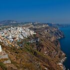 Greece. Santorini. Looking at Thira. by vadim19