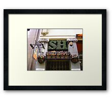 Sherlock Holmes Topiary Art Framed Print
