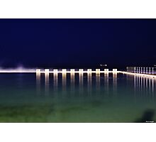 Starting Blocks - Merewether Baths  Photographic Print
