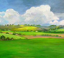 South Australian Canola Fields via Yacka by Virginia McGowan