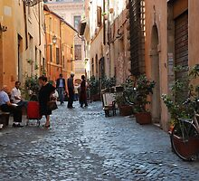 October Morning in the streets of Rome by Alessandro Pinto