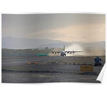 A C-130 Taking Off Poster