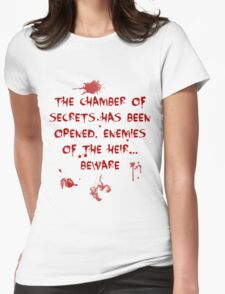The Chamber of Secrets has been opened... Womens Fitted T-Shirt