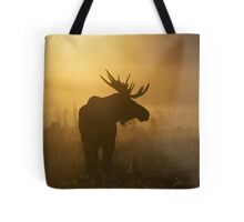 Bull Moose in Fog Tote Bag