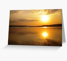 Sunsets at The Pearl Of Africa Greeting Card
