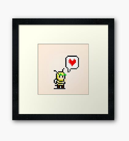 Bumblebee Love Framed Print