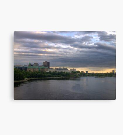 Ottawa landscape - HDR Canvas Print