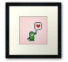 Gator Love Framed Print