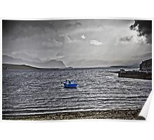 """Loch Eriboll """" Rays and Rain"""" Poster"""