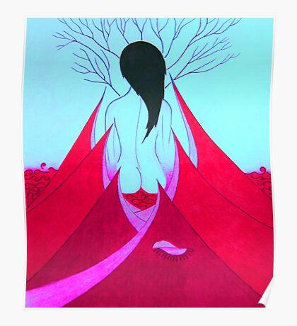 Enchantress Blue Poster