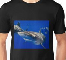 Close Encounter With An Oceanic White Tip Shark Unisex T-Shirt