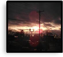 Suburban Light Canvas Print
