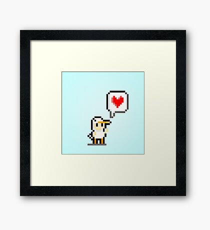 Ducky Love Framed Print