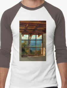 0648 Through the Window Men's Baseball ¾ T-Shirt