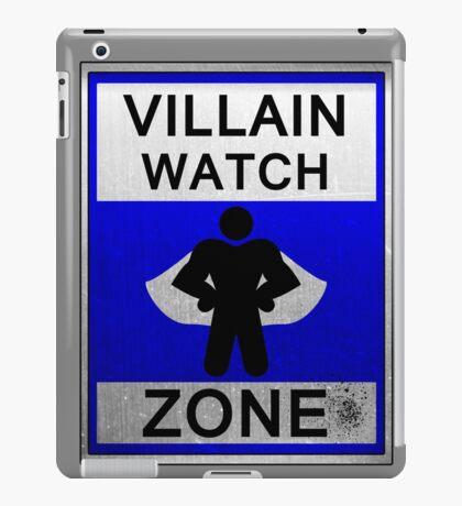 Villain Watch Zone iPad Case/Skin