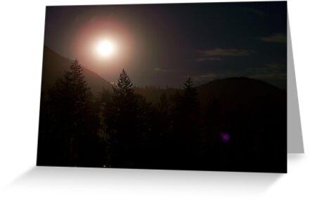 Moonrise over Glacier Park by rocamiadesign