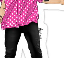 Pink Polka Dot Harry  Sticker