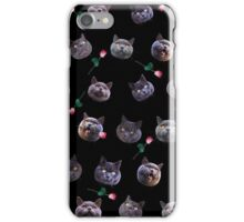 Chubbs and Roses iPhone Case/Skin
