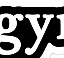 Gym - Hashtag - Black & White Sticker