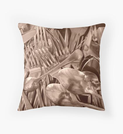 Cutlery Throw Pillow