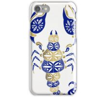 Scorpion – Navy & Gold iPhone Case/Skin
