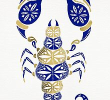 Scorpion – Navy & Gold by Cat Coquillette
