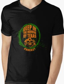 Deep in the Halloween of Texas Podcast Mens V-Neck T-Shirt