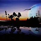 Homeworld Lake Sunset by Quixotegraphics