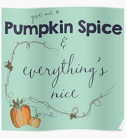 Pumpkin Spice Poster