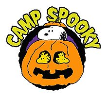 Snoopy Peanuts Camp Spooky Photographic Print
